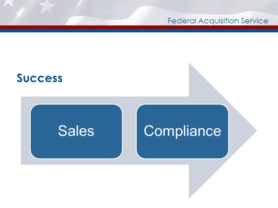 Federal Acquisition Service Success SalesCompliance