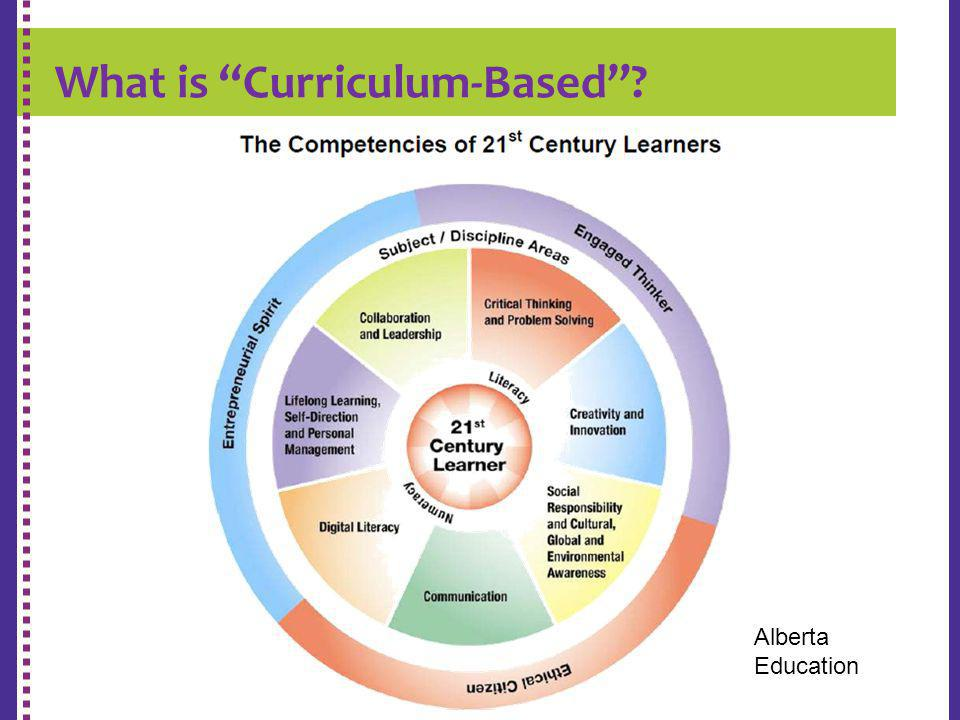 What is Curriculum-Based? K-9 REPORT CARD Alberta Education