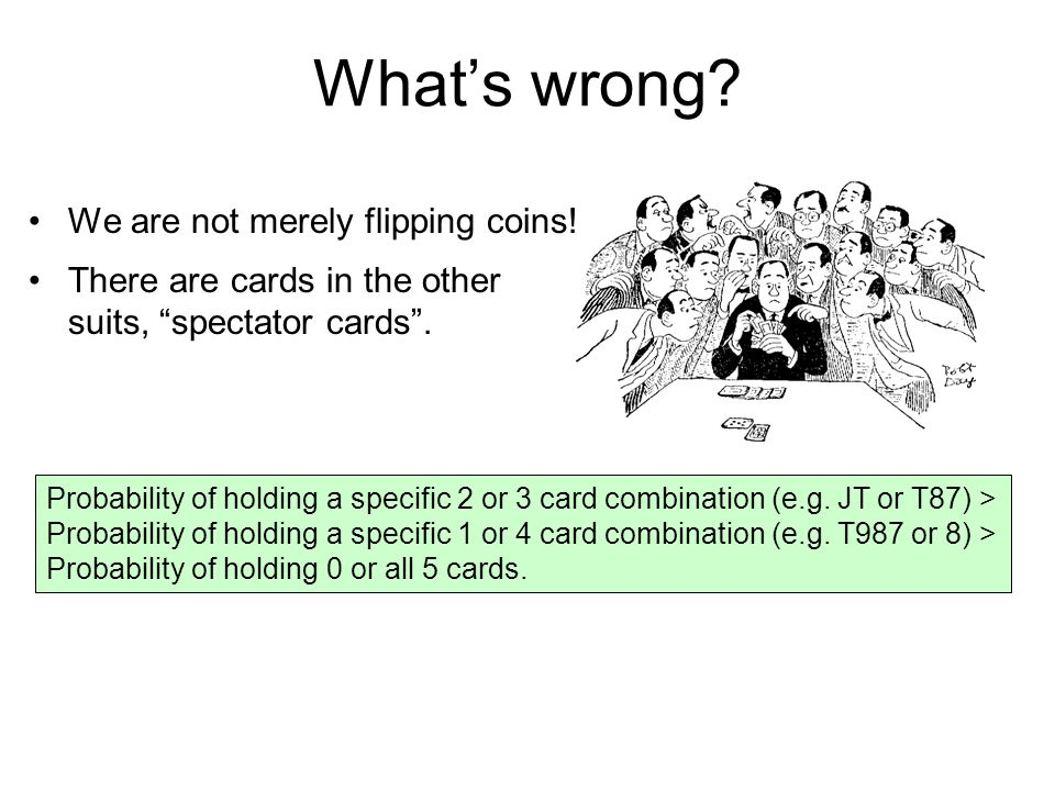 Whats wrong. We are not merely flipping coins.