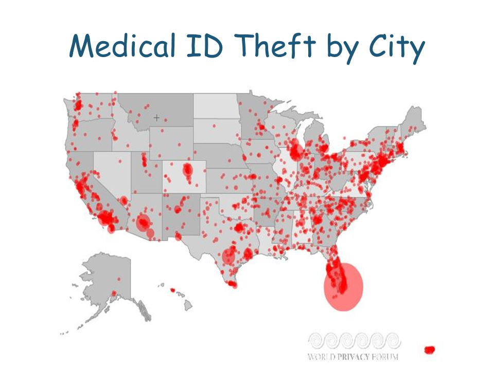Medical ID Theft by City