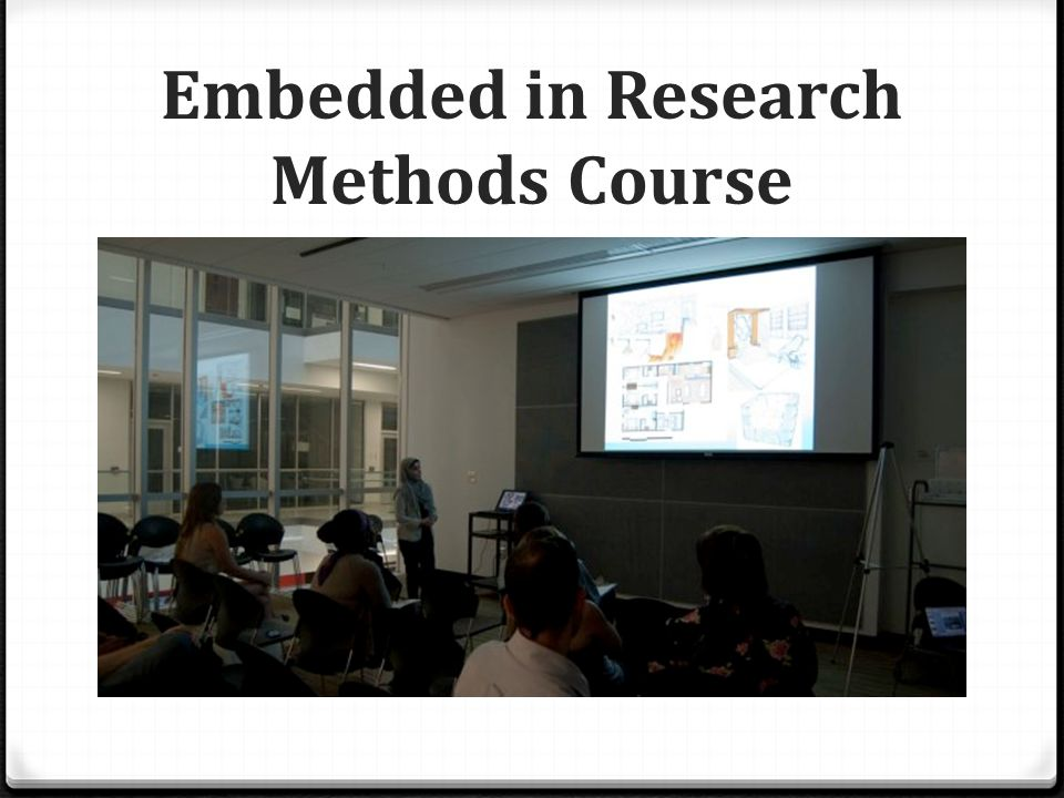 Embedded in Research Methods Course