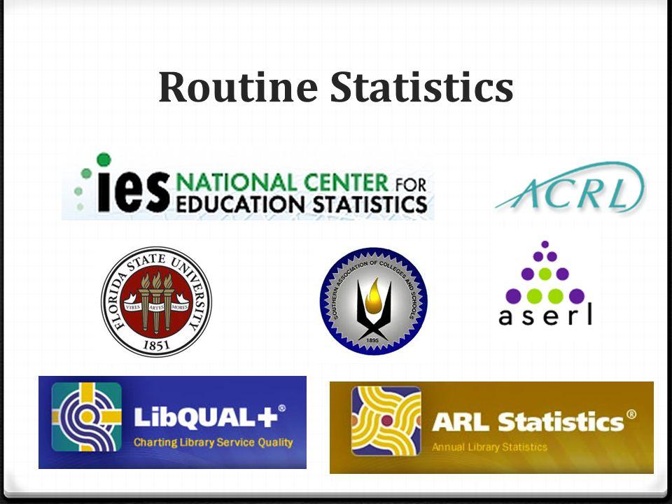 Routine Statistics