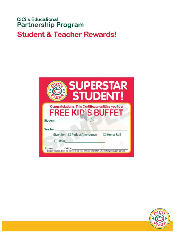 As a Partner you will receive: Birthday card for EVERY student - (A free kid meal redeemable during their birthday month) Unlimited Superstar Student