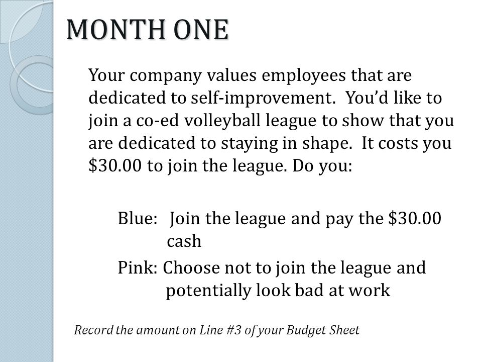 Your company values employees that are dedicated to self-improvement. Youd like to join a co-ed volleyball league to show that you are dedicated to st