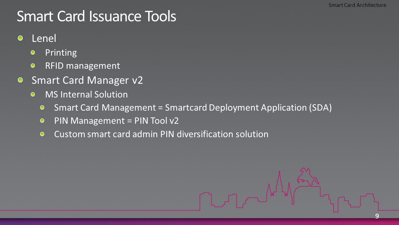 9 Smart Card Architecture