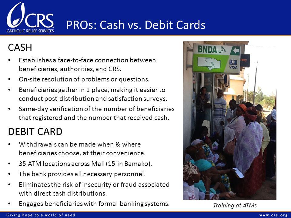 CONs: Cash vs.