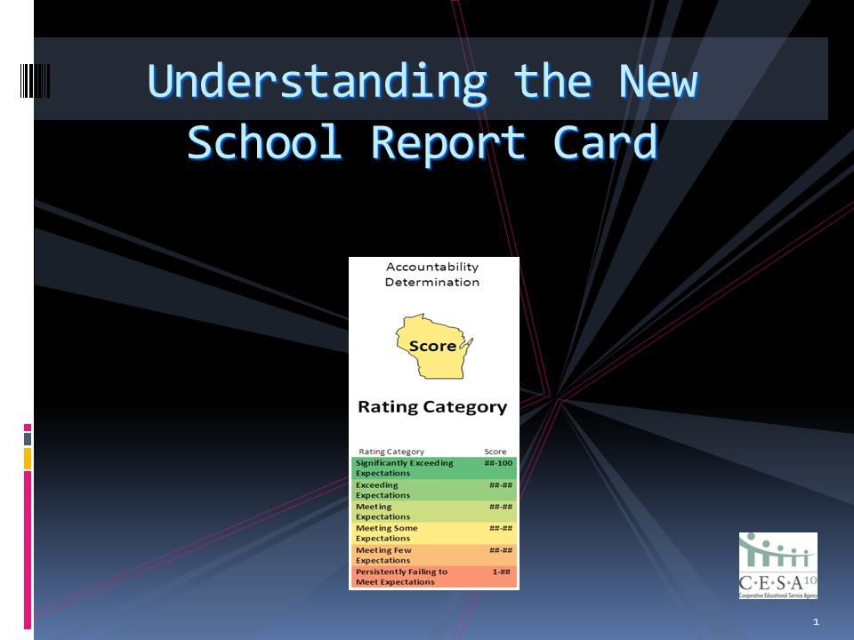 1 Understanding the New School Report Card