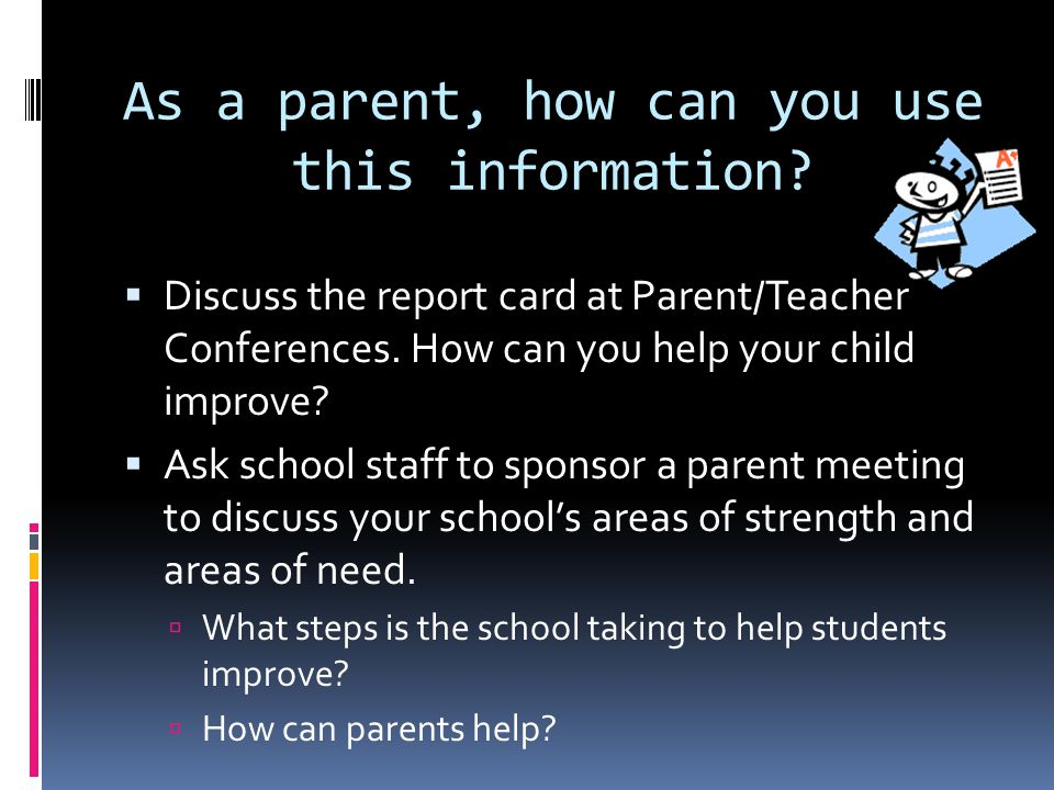 As a parent, how can you use this information.