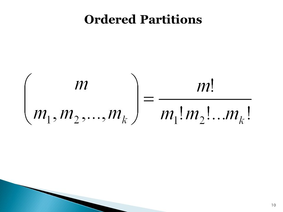 Ordered Partitions 10