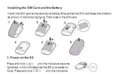 Installing the SIM Card and the Battery Install the SIM card at the card slot entrance. Ensure that the SIM card faces the direction as shown in the f