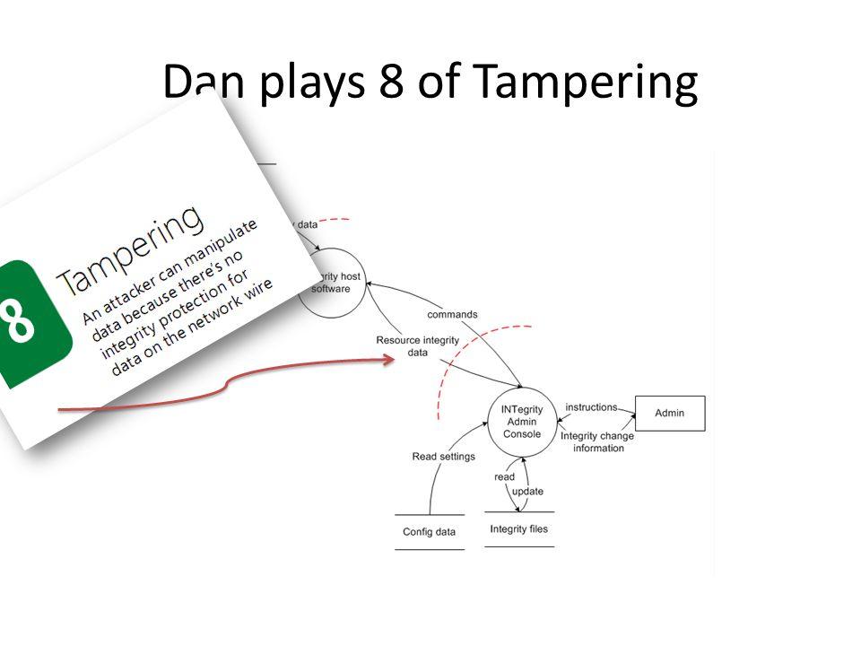Dan plays 8 of Tampering
