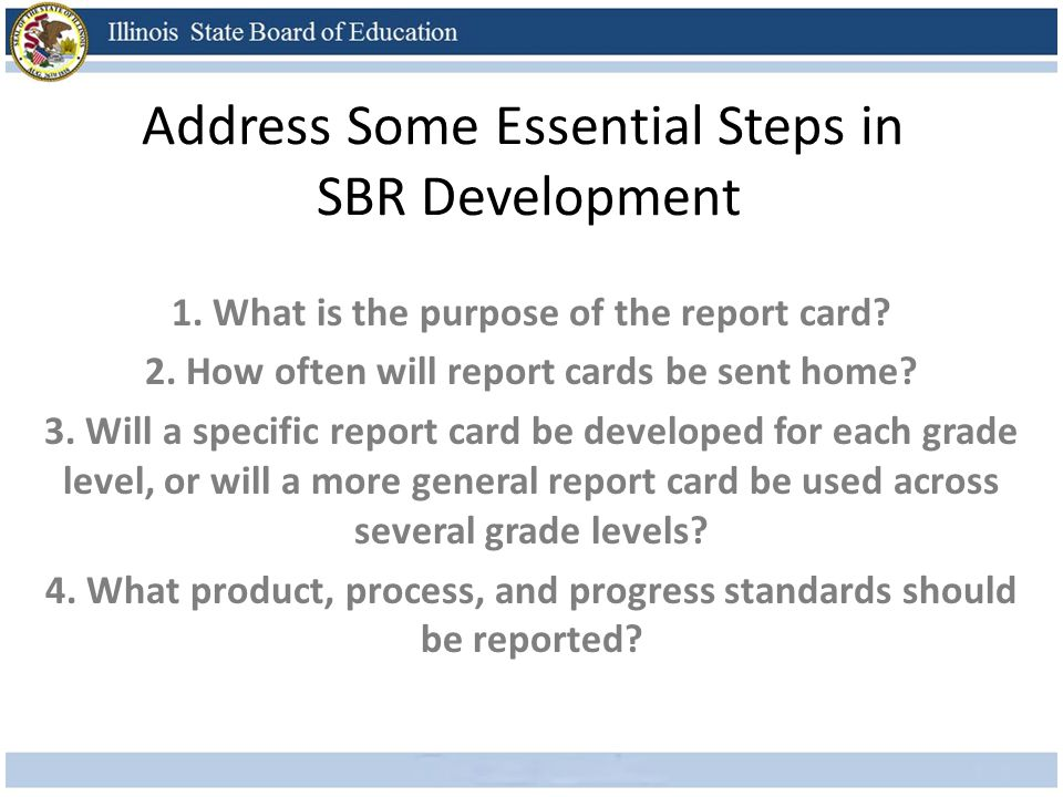 Address Some Essential Steps in SBR Development 1.