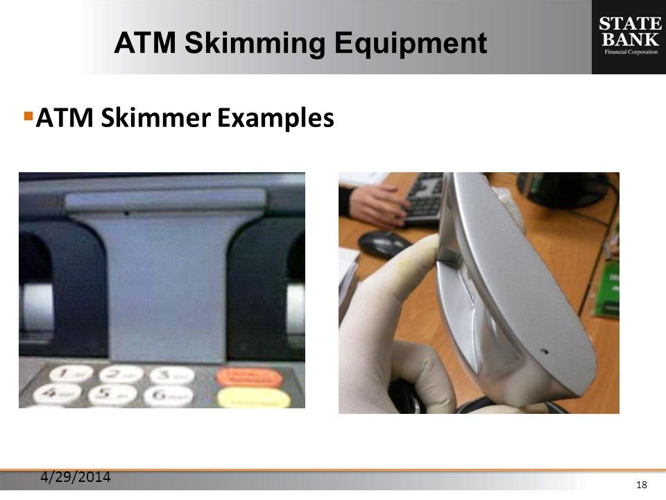 18 ATM Skimming Equipment ATM Skimmer Examples 4/29/2014
