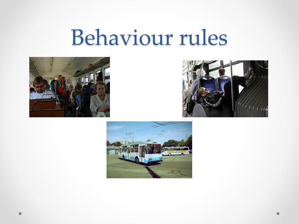 Behaviour rules