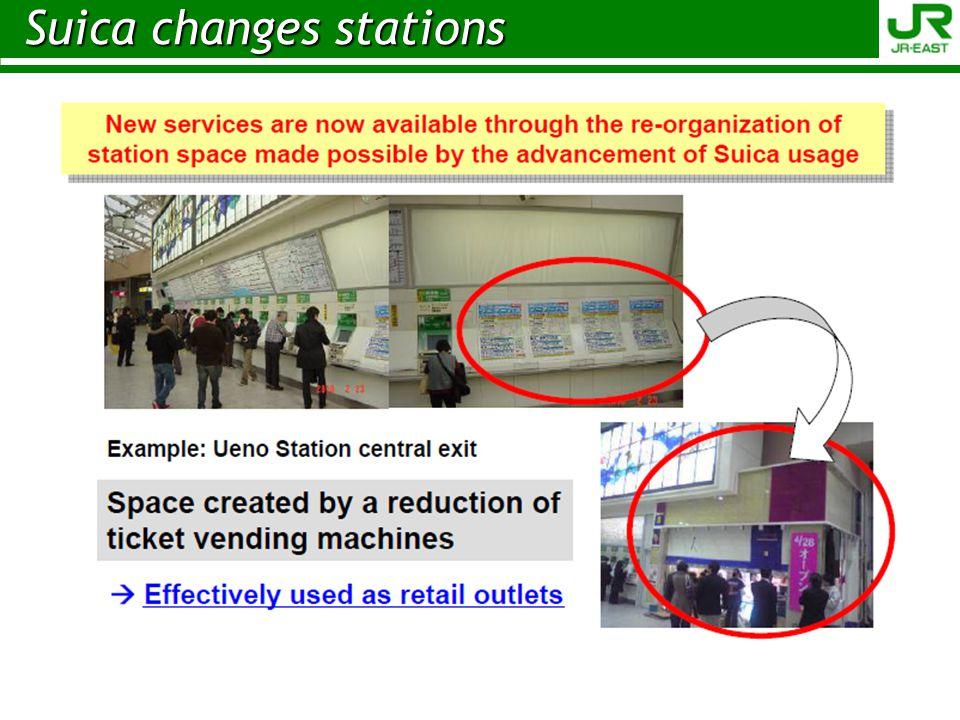 Suica changes stations Suica changes stations