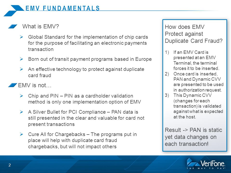 EMV FUNDAMENTALS What is EMV.