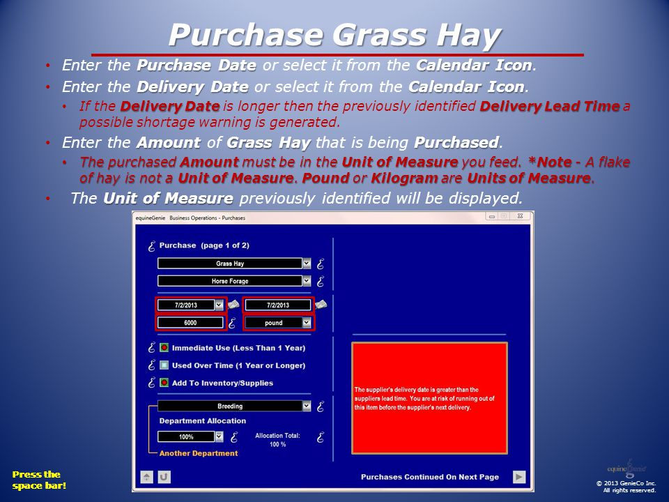 Purchase Grass Hay © 2013 GenieCo Inc. All rights reserved.