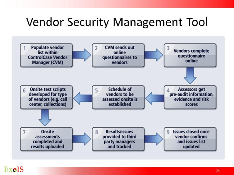 Vendor Security Management Tool 26