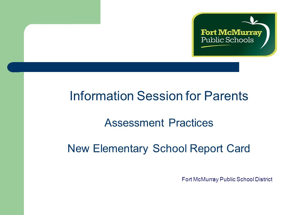 Why do we need a new report card.