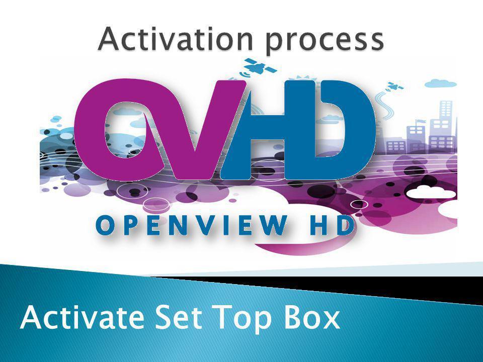 Activate Set Top Box