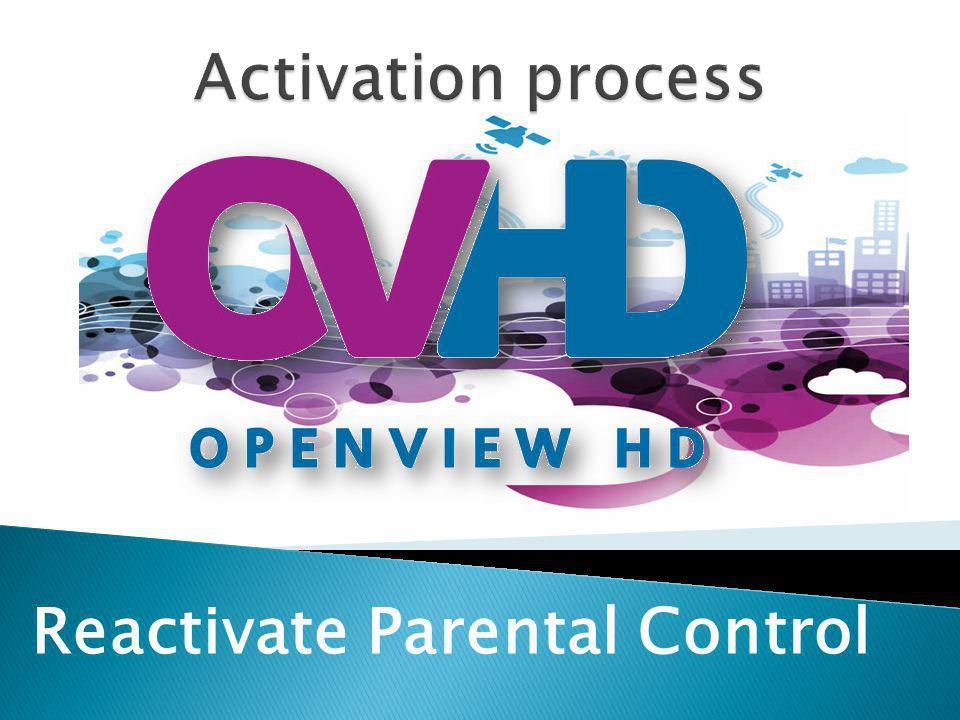 Reactivate Parental Control