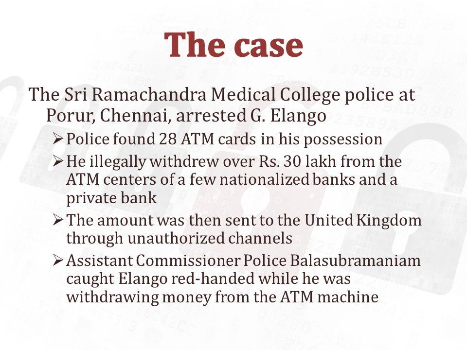 G.Elango, a Tamil Tiger agent was arrested.