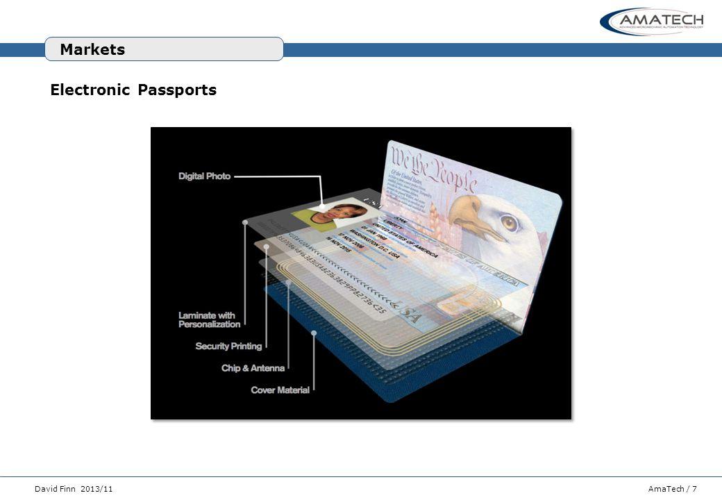 AmaTech / 7David Finn 2013/11 Electronic Passports Markets