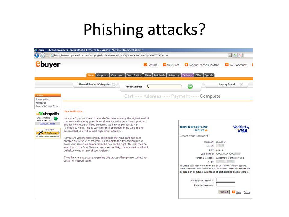 Phishing attacks?