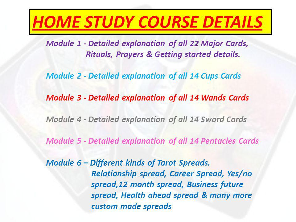 Module 1 - Detailed explanation of all 22 Major Cards, Rituals, Prayers & Getting started details.