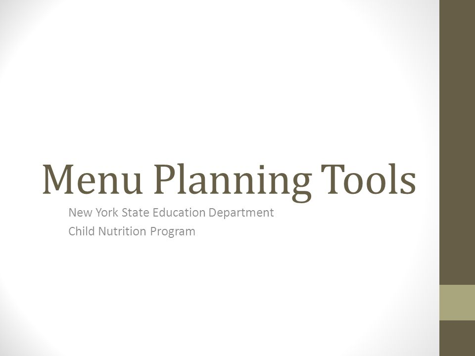 What Resources Are Available For Menu Planning.