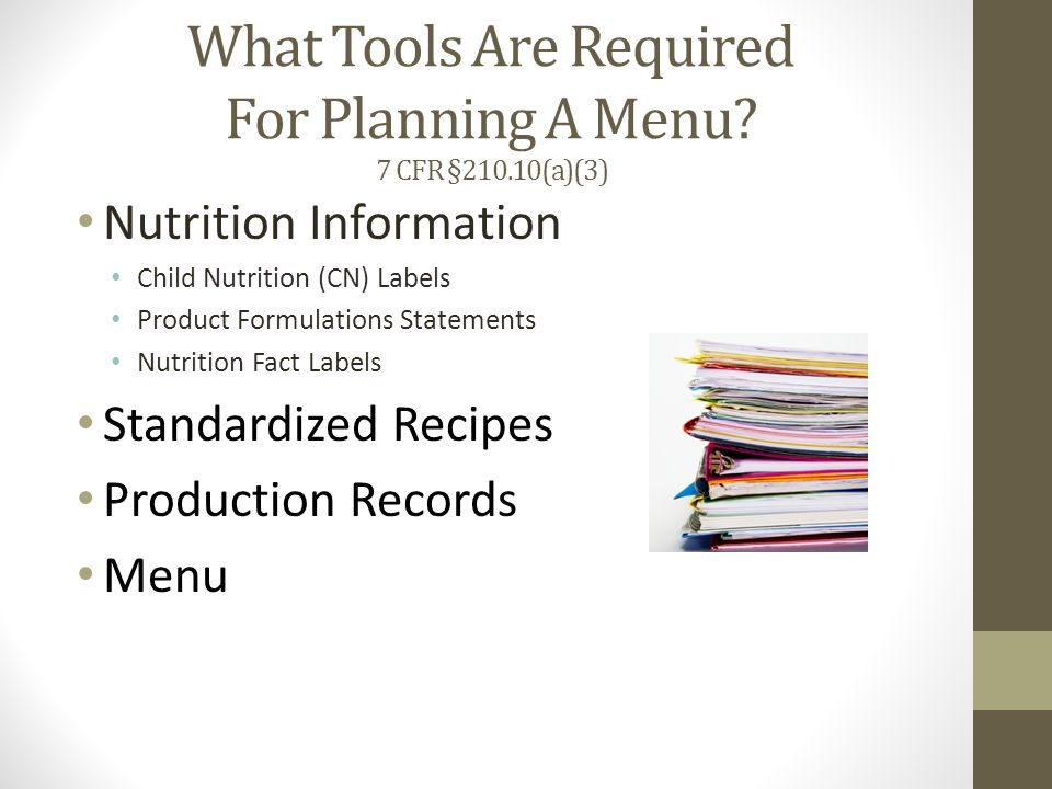 Menu and Production Record Daily MenuDaily Production Record