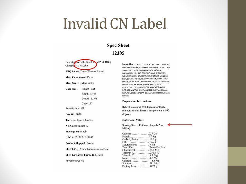 Invalid CN Label