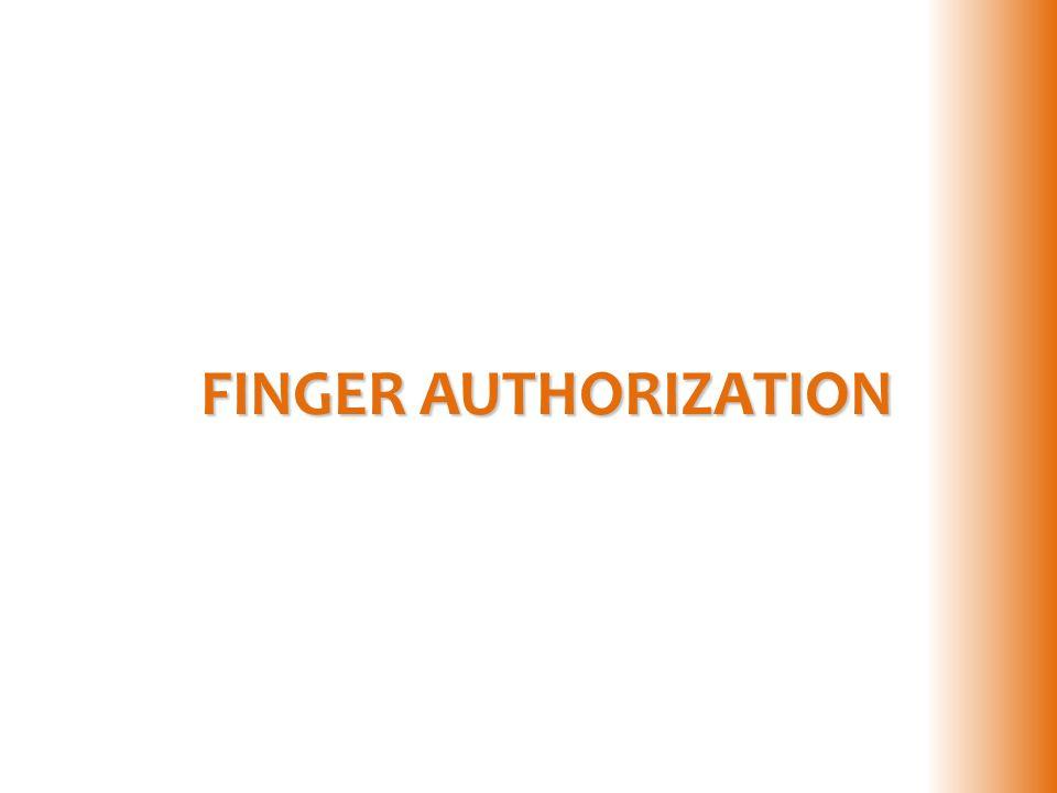 FINGER AUTHORIZATION