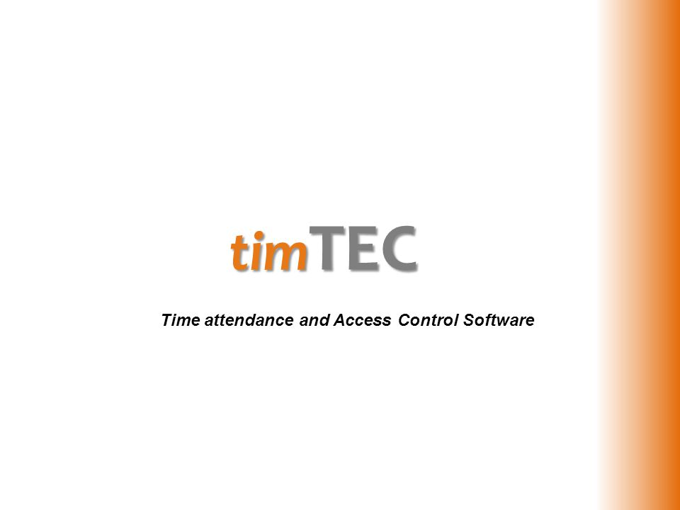 tim TEC Time attendance and Access Control Software