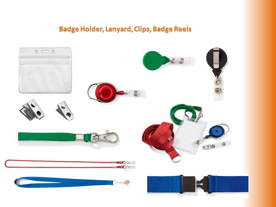 Badge Holder, Lanyard, Clips, Badge Reels