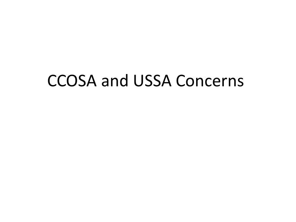 CCOSA and USSA Concerns
