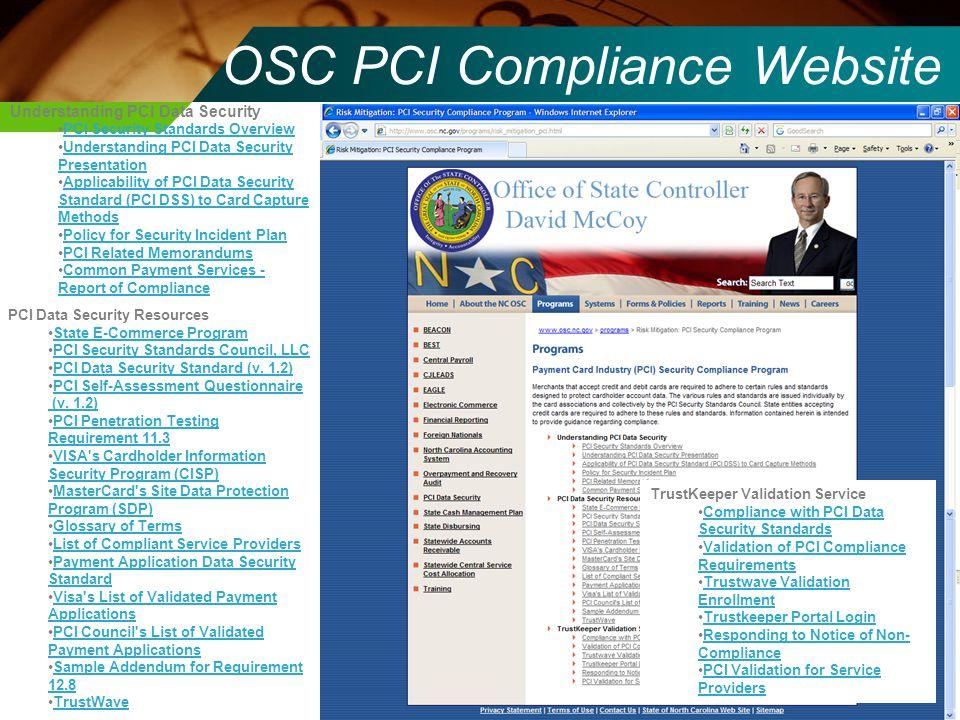 OSC PCI Compliance Website Understanding PCI Data Security PCI Security Standards Overview Understanding PCI Data Security PresentationUnderstanding P