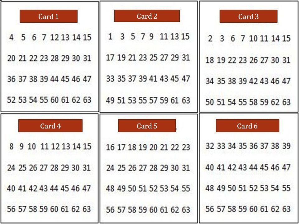 Card 1 Card 2 Card 3 Card 4Card 5Card 6