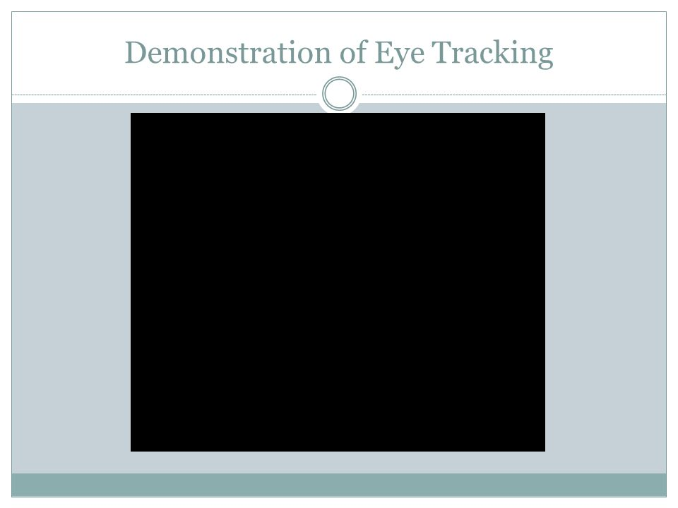 Demonstration of Eye Tracking