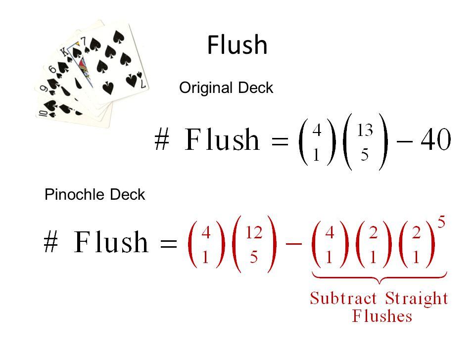 Flush Original Deck Pinochle Deck