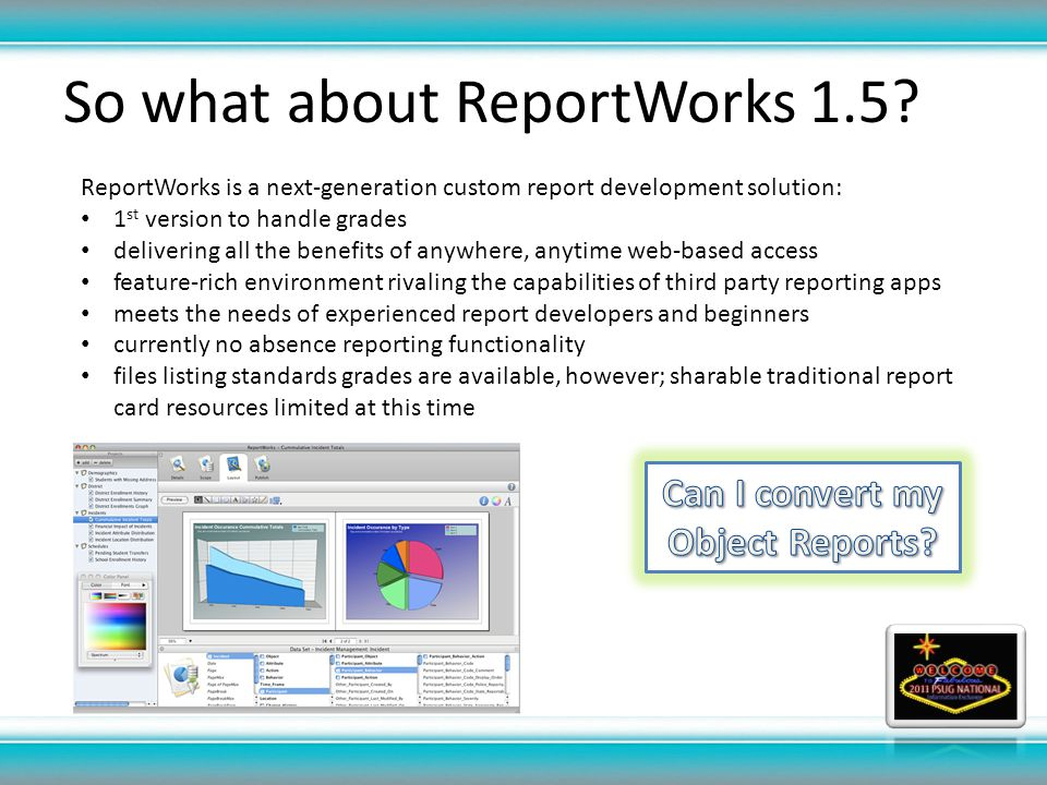 So what about ReportWorks 1.5.