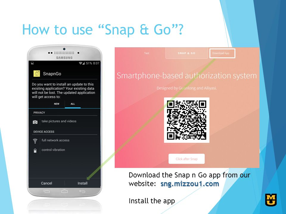 How to use Snap & Go.