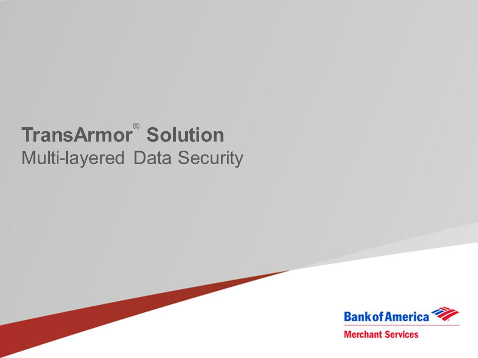 TransArmor ® Solution Multi-layered Data Security
