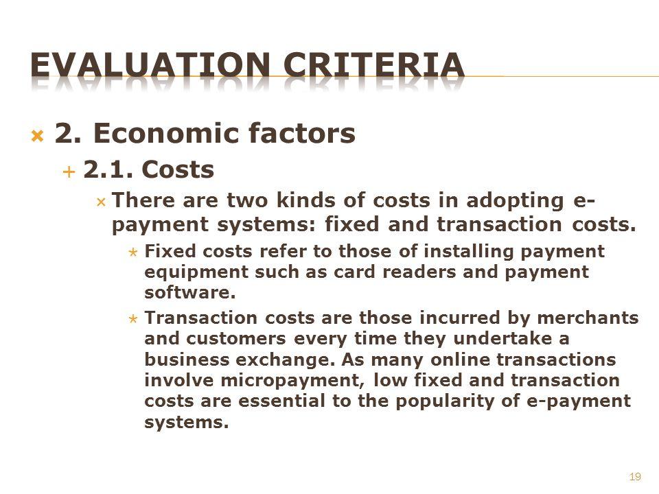 2. Economic factors 2.1.