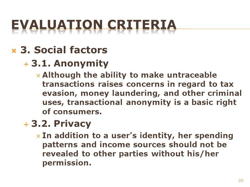 3. Social factors 3.1.