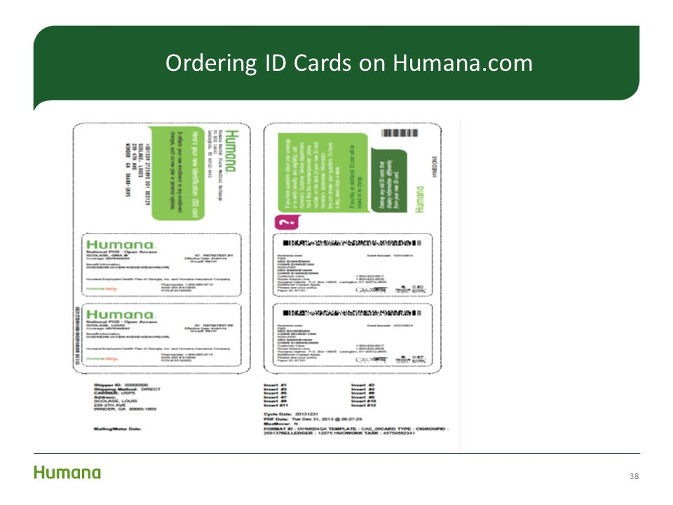 38 Ordering ID Cards on Humana.com