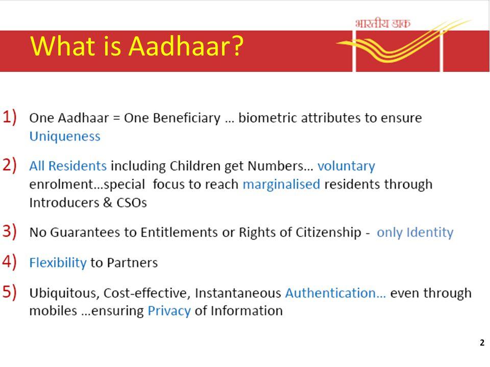 2 What is Aadhaar?