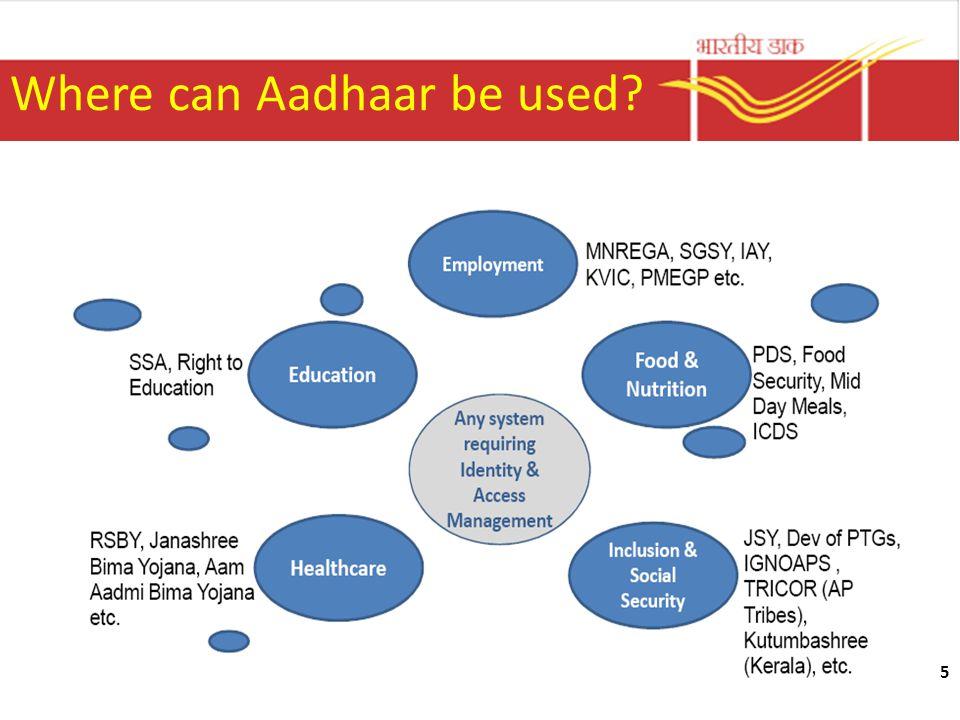5 Where can Aadhaar be used?
