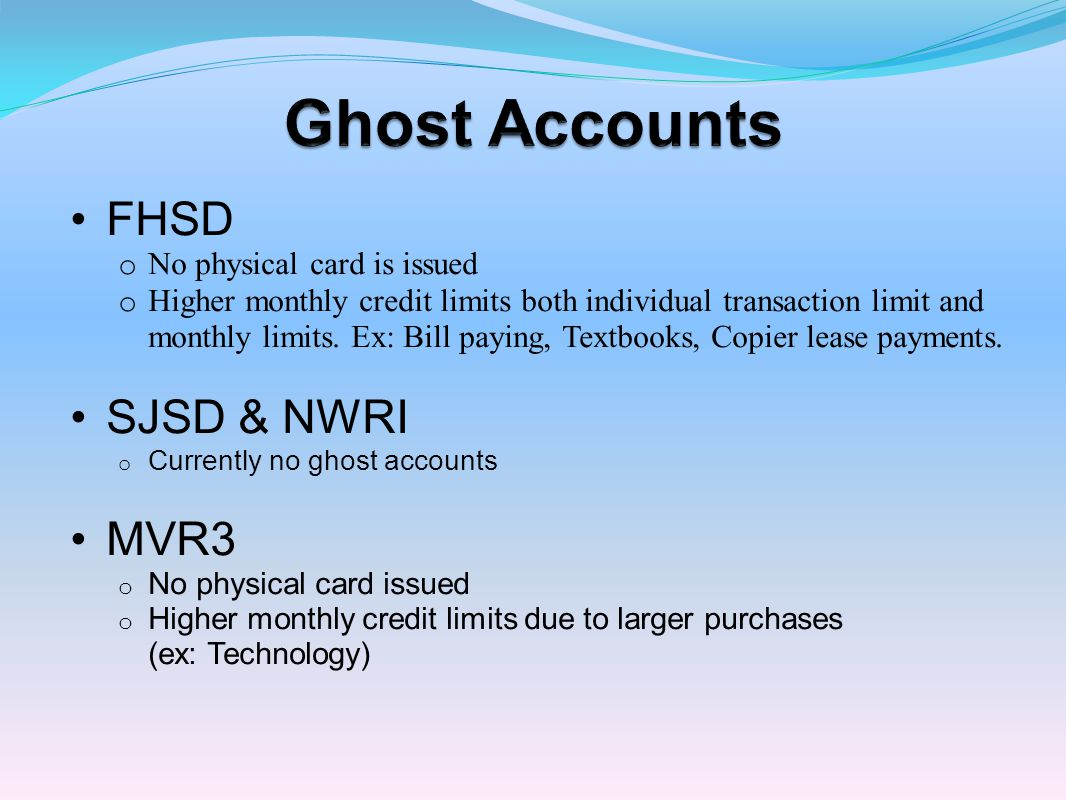 o Cardholder is responsible for allocating budget number for their transactions each month.