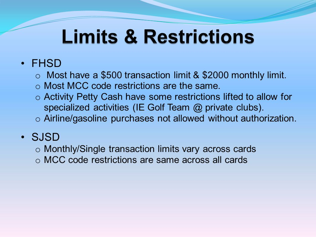 o Information is sent to all cardholders with cutoff dates for making payments within this fiscal year.